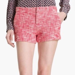 JOIE Merci Tweed Knit Red Shorts - Size 2